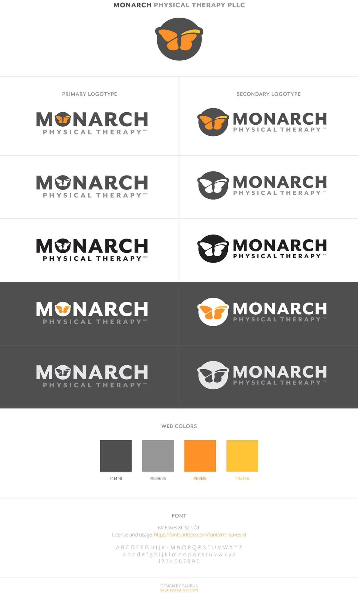 Monarch Physical Therapy Branding